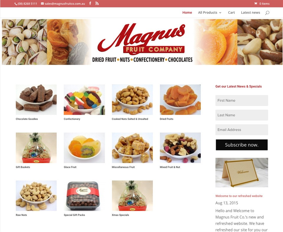 Magnus Fruit Co. Website Development